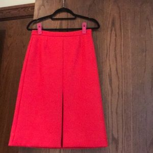 J Crew Red A Line Skirt
